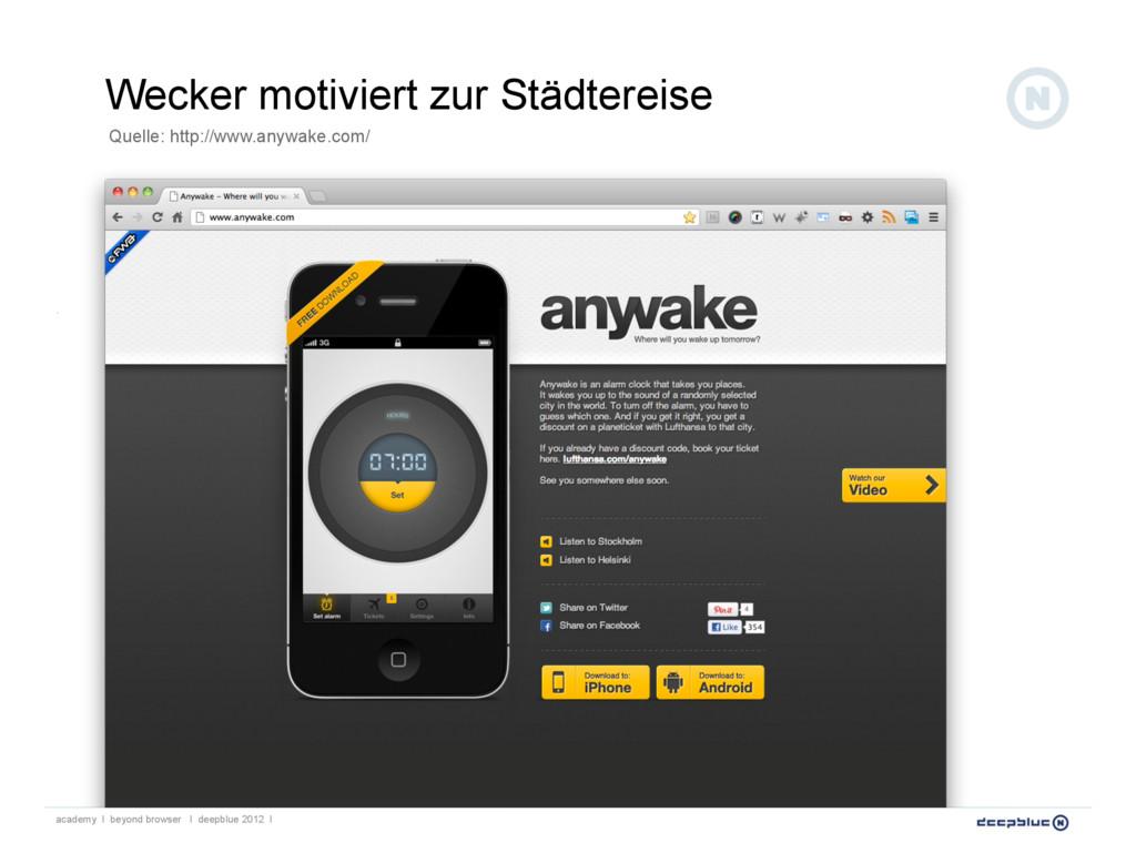 Wecker motiviert zur Städtereise Quelle: http:/...