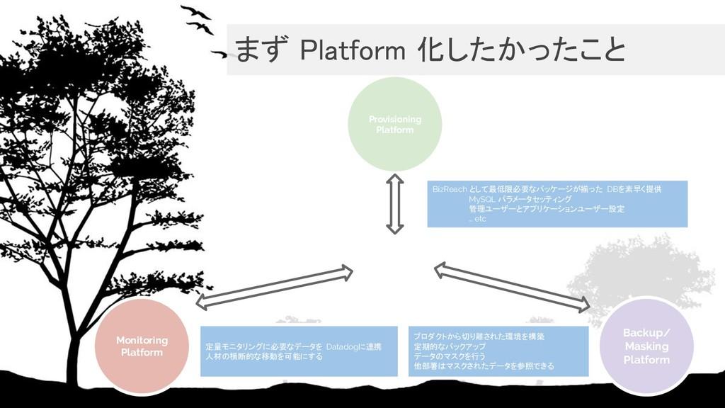 Provisioning Platform Backup/ Masking Platform ...