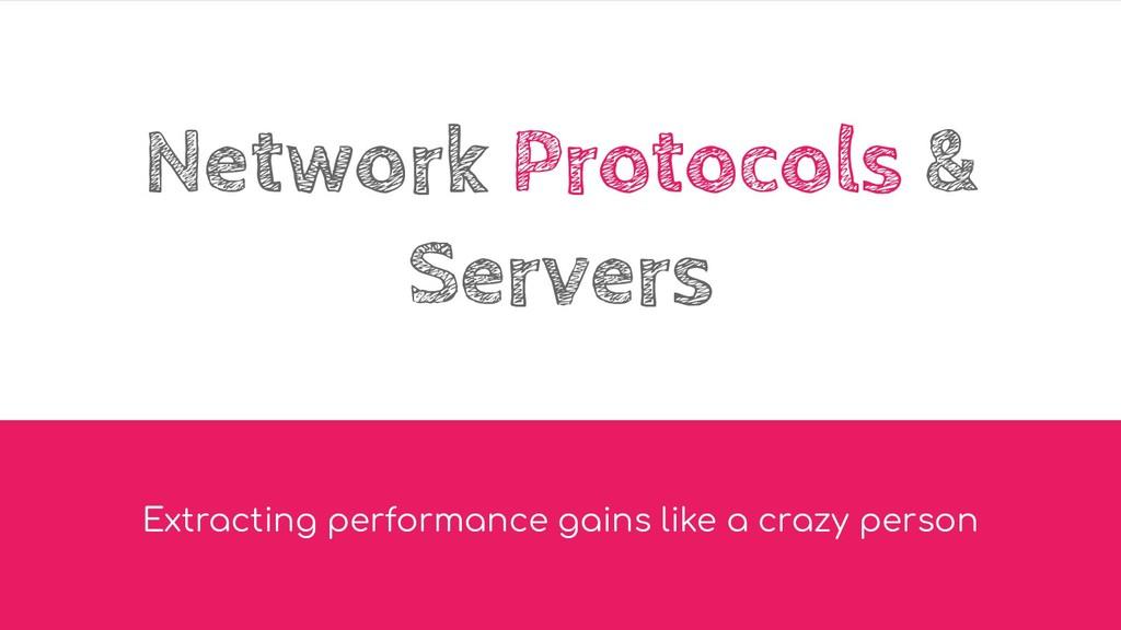 Network Protocols & Servers Extracting performa...