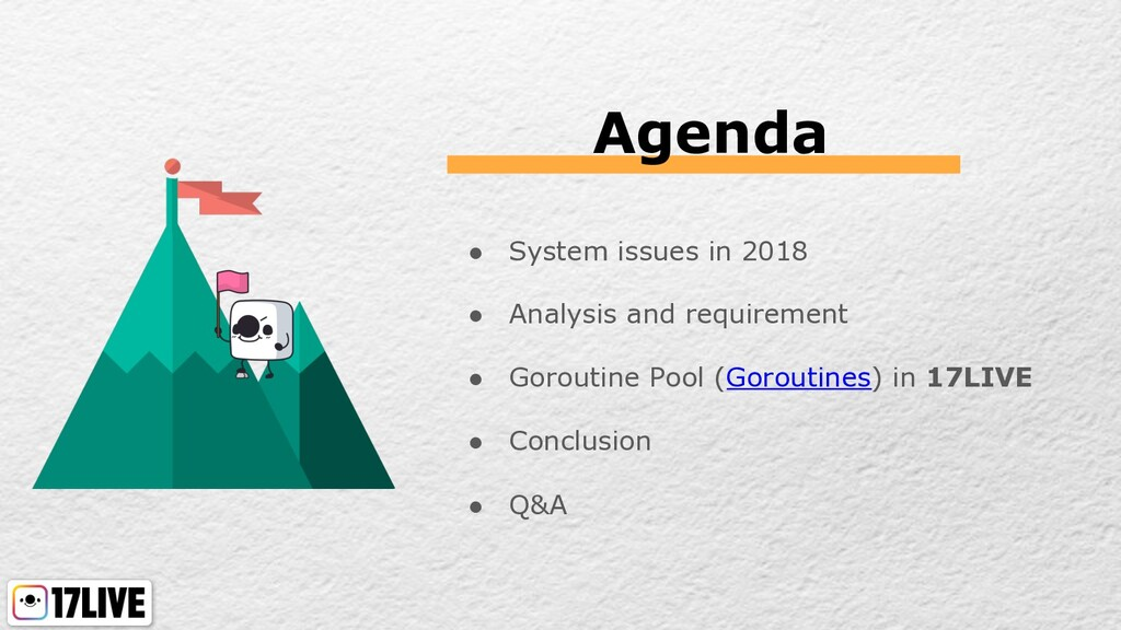 Agenda ● System issues in 2018 ● Analysis and r...