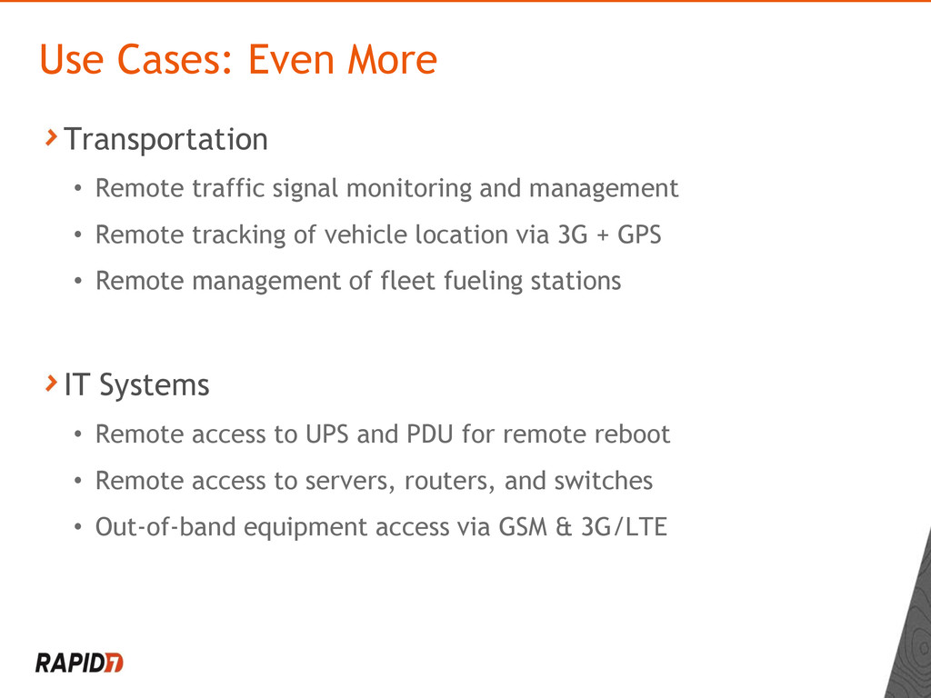 Transportation • Remote traffic signal monitori...