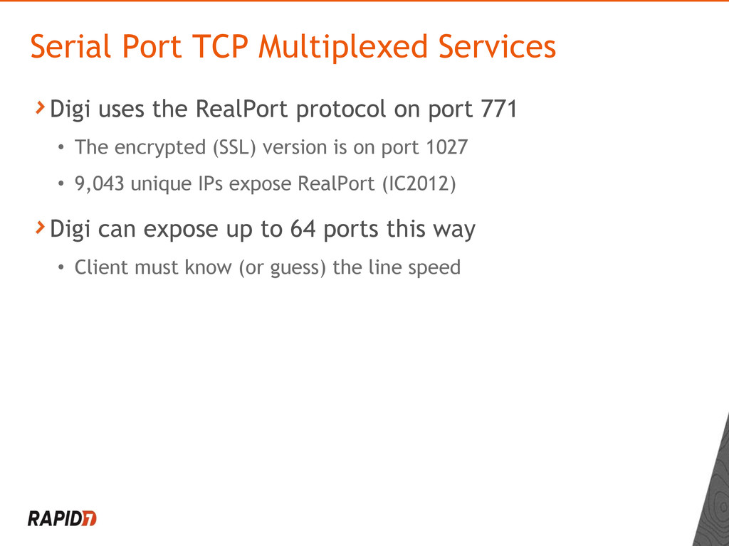 Digi uses the RealPort protocol on port 771 • T...