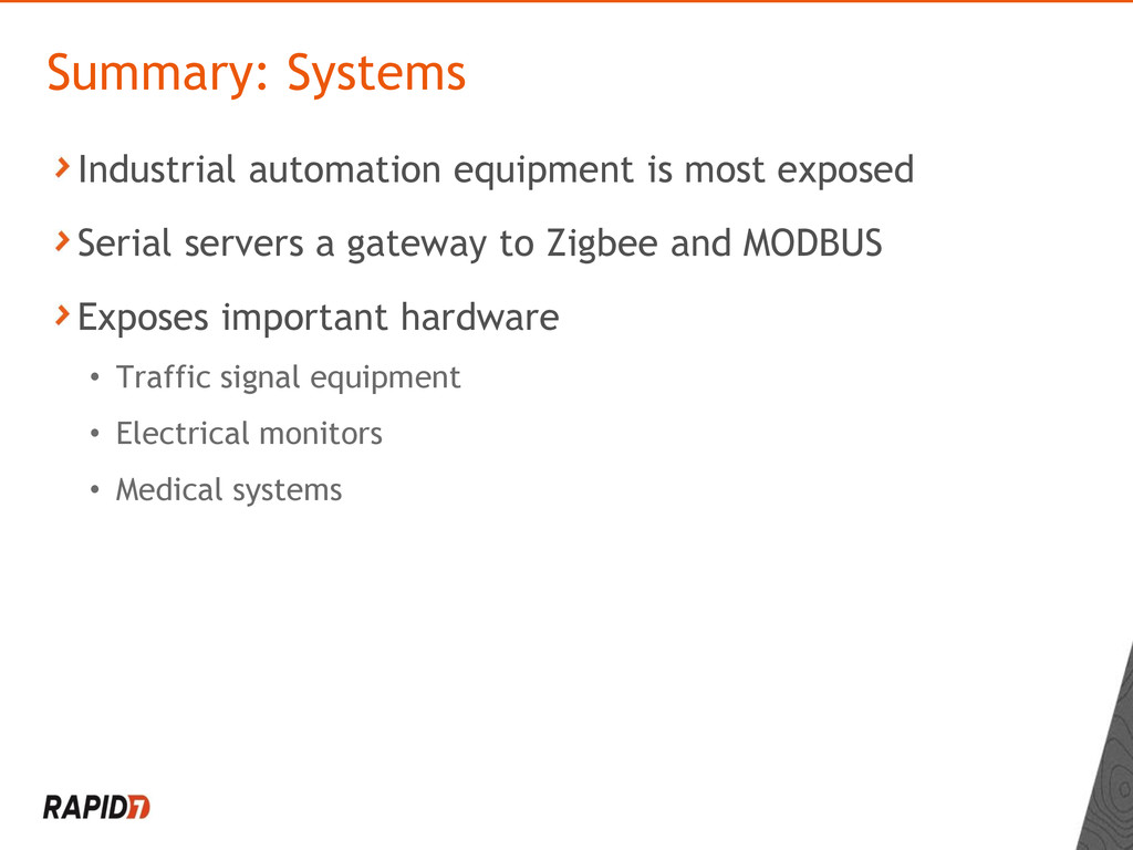Industrial automation equipment is most exposed...