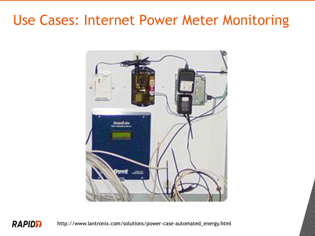 Use Cases: Internet Power Meter Monitoring http...