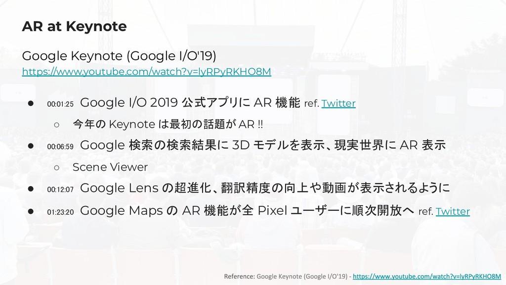 AR at Keynote Google Keynote (Google I/O'19) ht...
