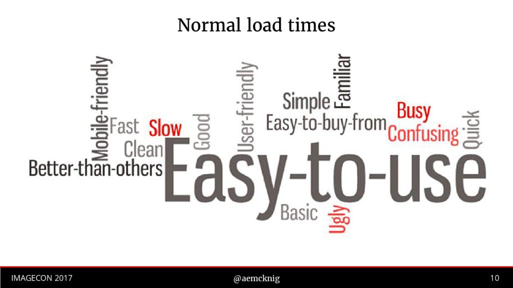 10 IMAGECON 2017 @aemcknig Normal load times