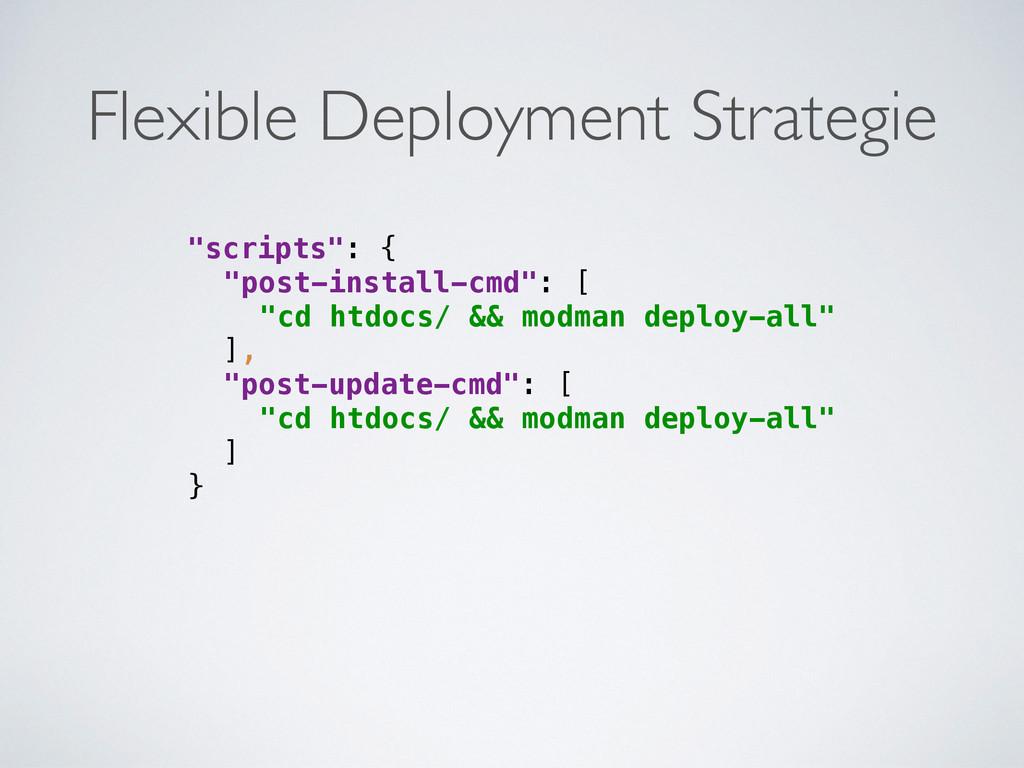 """scripts"": { ""post-install-cmd"": [ ""cd htdocs..."