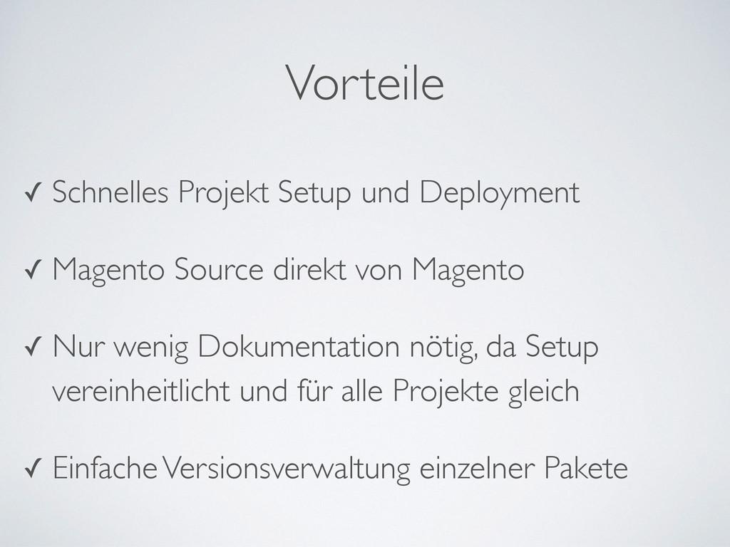 ✓ Schnelles Projekt Setup und Deployment  ✓ M...