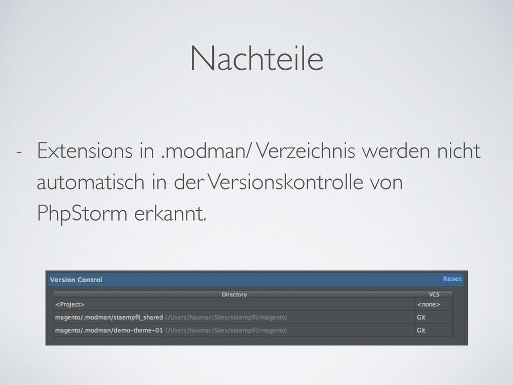 - Extensions in .modman/ Verzeichnis werden nic...