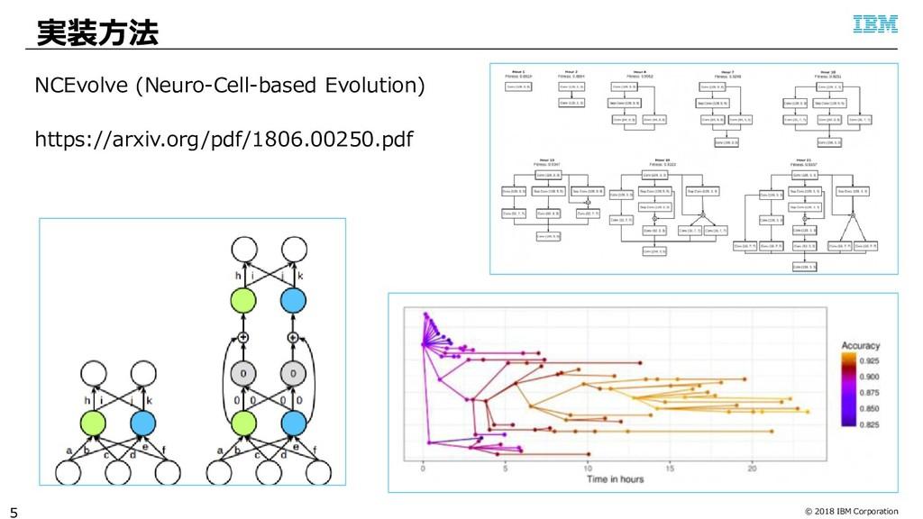 © 2018 IBM Corporation 実装方法 5 NCEvolve (Neuro-C...