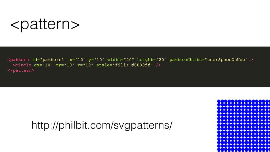 """<pattern> <pattern id=""""pattern1"""" x=""""10"""" y=""""10"""" ..."""