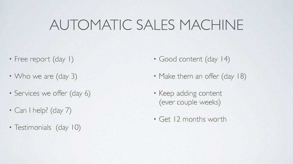 AUTOMATIC SALES MACHINE • Free report (day 1)! ...
