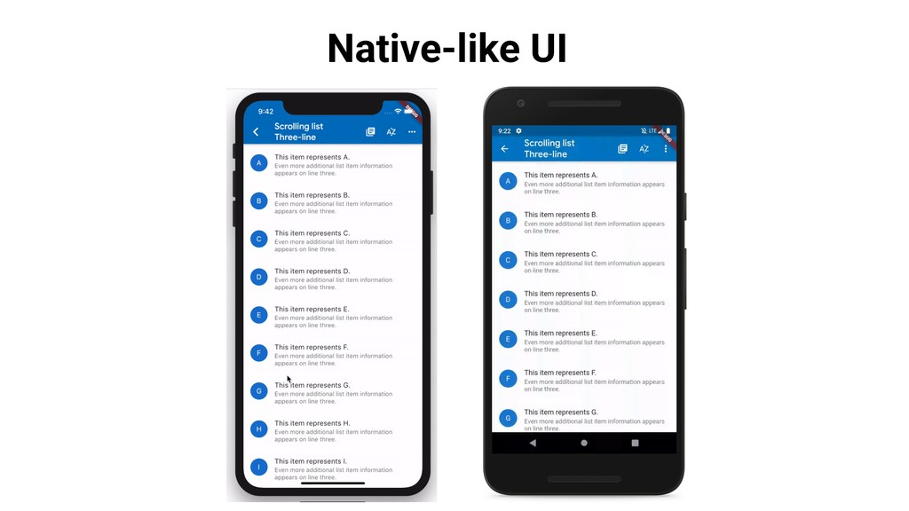 Native-like UI