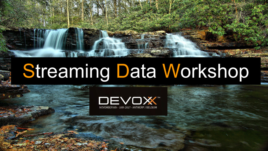 Streaming Data Workshop
