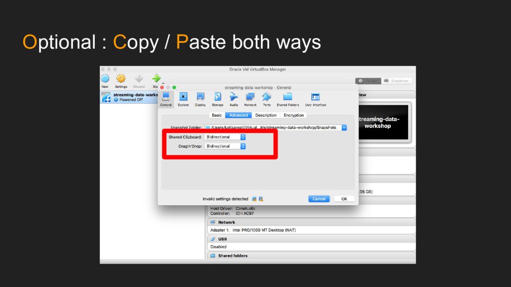 Optional : Copy / Paste both ways
