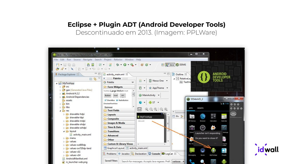 Eclipse + Plugin ADT (Android Developer Tools) ...