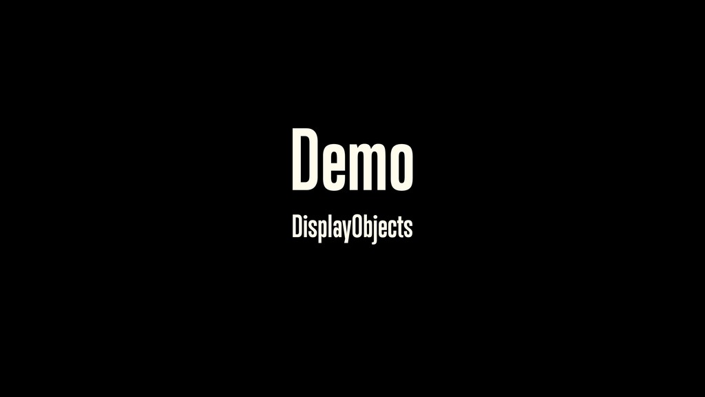 Demo DisplayObjects 30