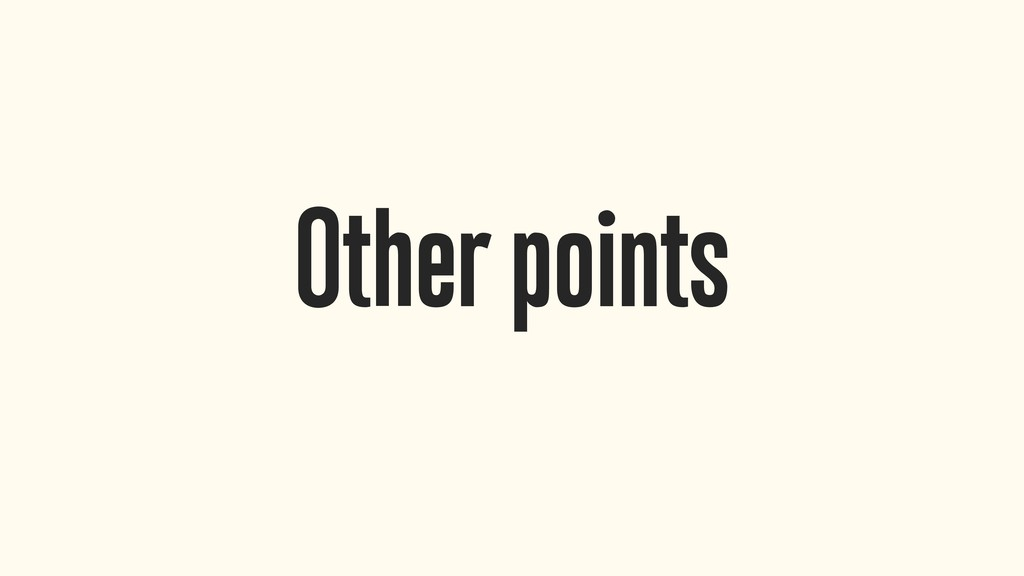 Other points