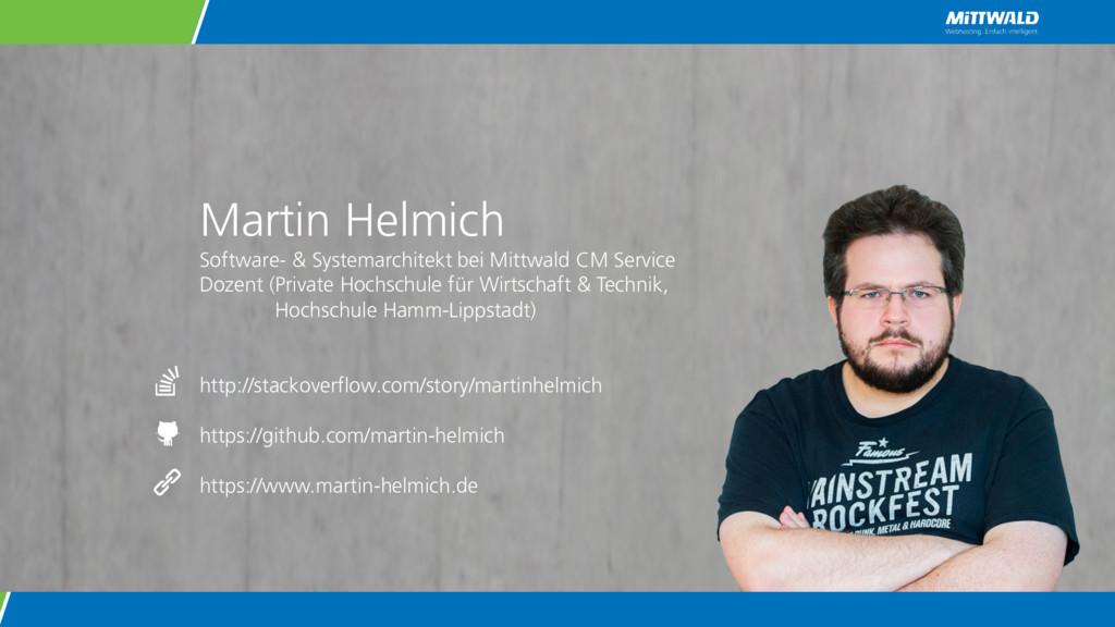 Martin Helmich Software- & Systemarchitekt bei ...