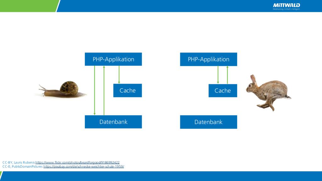 PHP-Applikation Datenbank Cache PHP-Applikation...