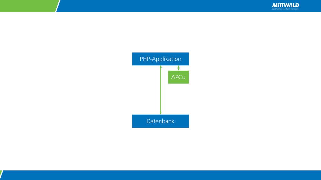 PHP-Applikation Datenbank APCu