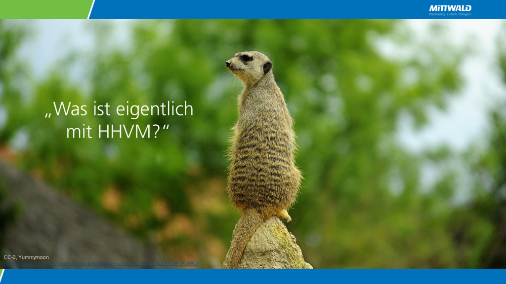 """""""Was ist eigentlich mit HHVM?"""" CC-0, Yummymoon ..."""