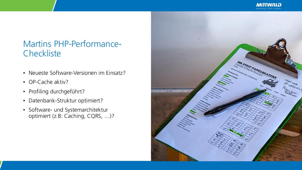 Martins PHP-Performance- Checkliste • Neueste S...