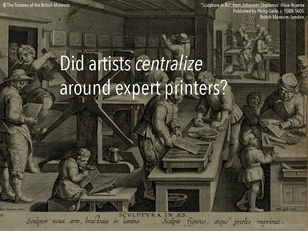 Did artists centralize around expert printers? ...