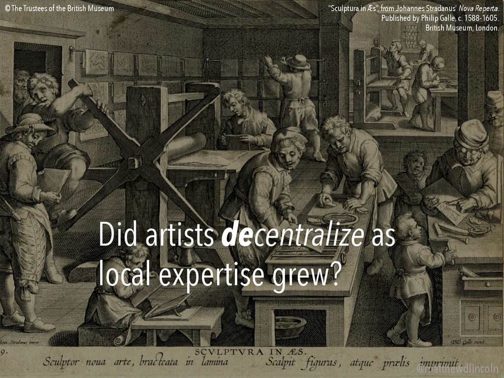 Did artists decentralize as local expertise gre...