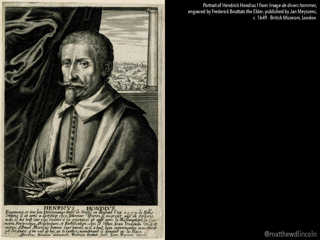 Portrait of Hendrick Hondius I from Image de di...