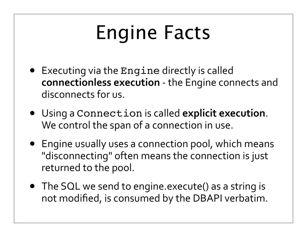 Engine Facts • Executing	