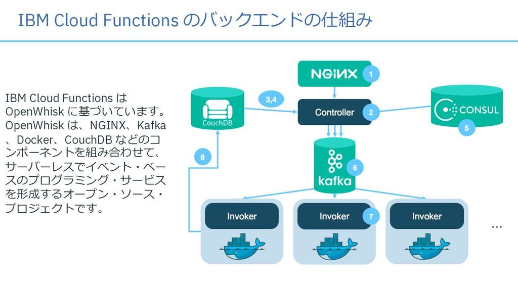 IBM Cloud Functions は OpenWhisk に基づいています。 OpenW...