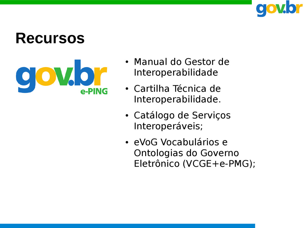 Recursos ● Manual do Gestor de Interoperabilida...
