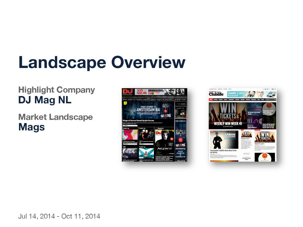 Landscape Overview  Highlight Company  DJ...