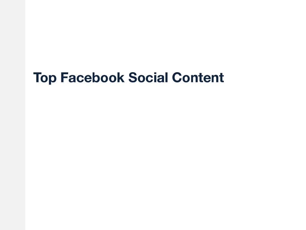 Top Facebook Social Content