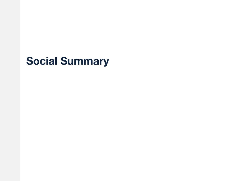 Social Summary