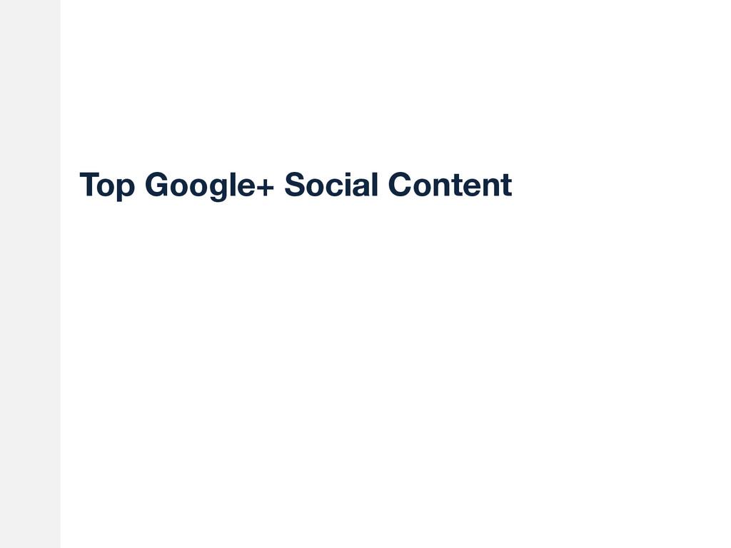 Top Google+ Social Content