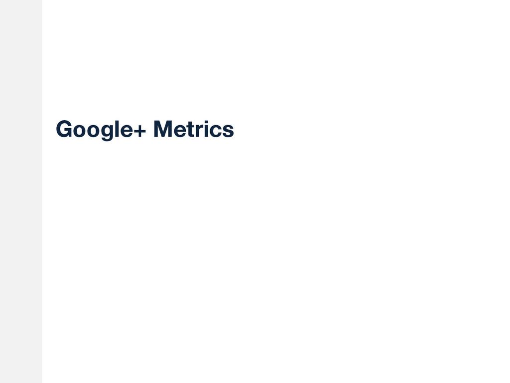 Google+ Metrics
