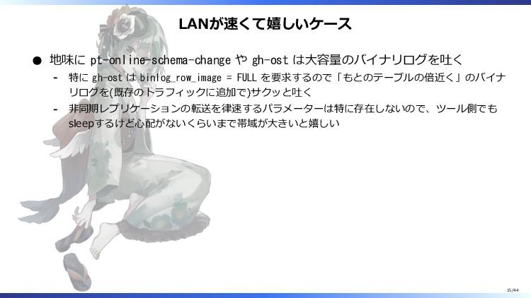 LANが速くて嬉しいケース 地味に pt-online-schema-change や gh-...