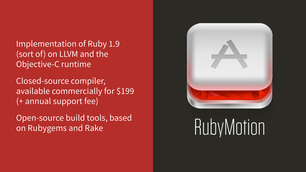 RubyMotion Implementation of Ruby 1.9 (sort of)...