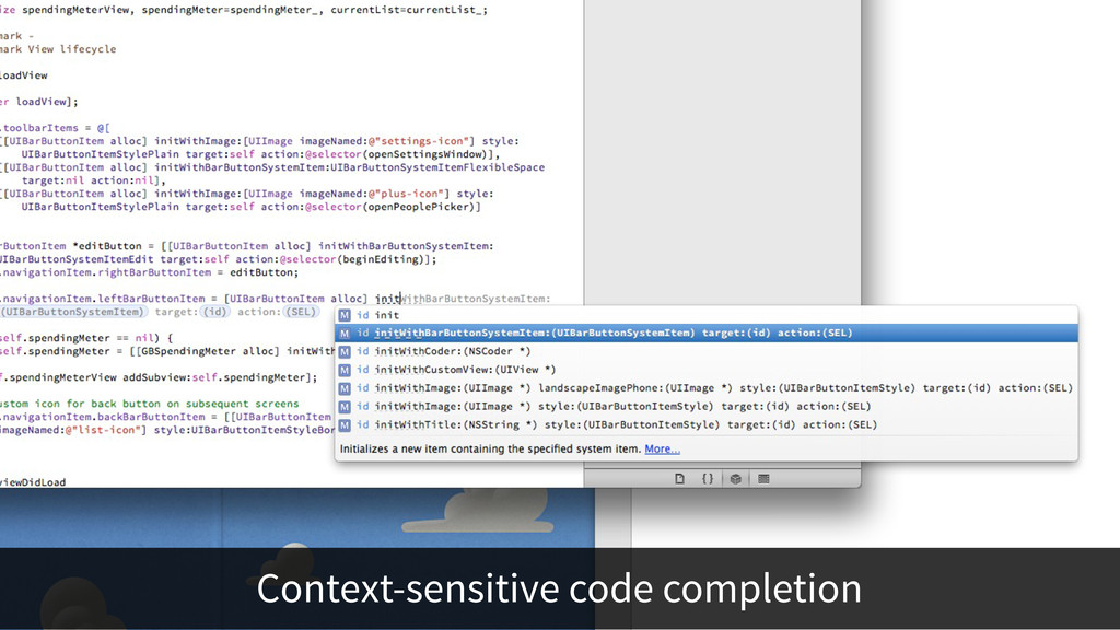 Context-sensitive code completion