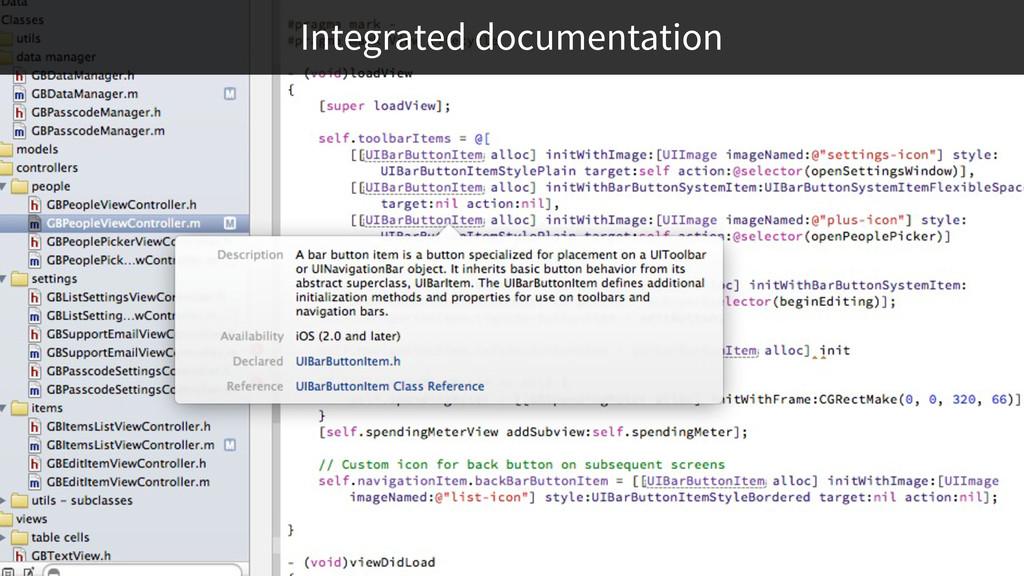 Integrated documentation
