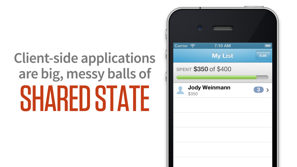 Client-side applications are big, messy balls o...