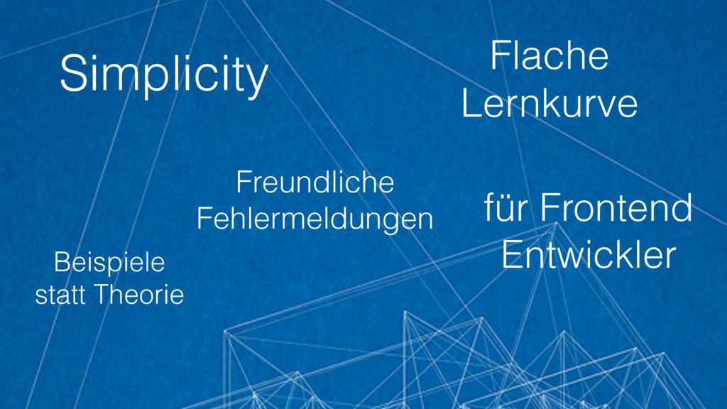 Simplicity für Frontend Entwickler Flache Lernk...