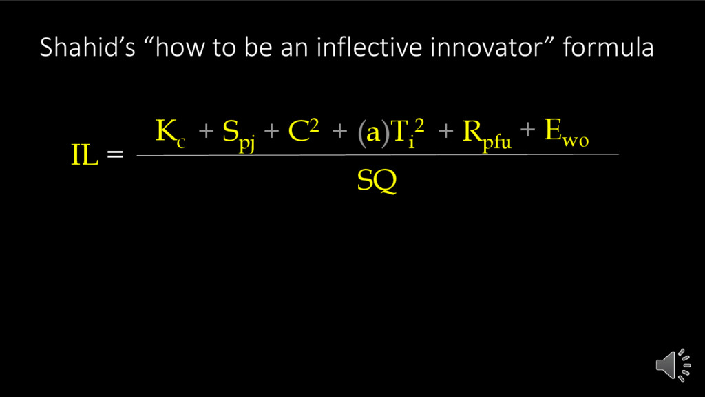 "Shahid's ""how to be an inflective innovator"" fo..."
