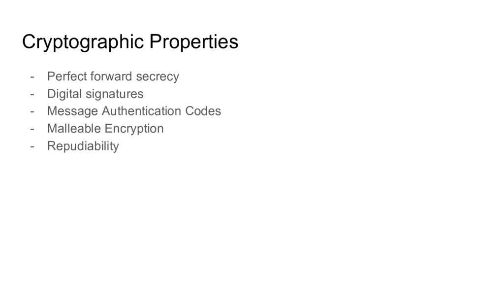 Cryptographic Properties - Perfect forward secr...