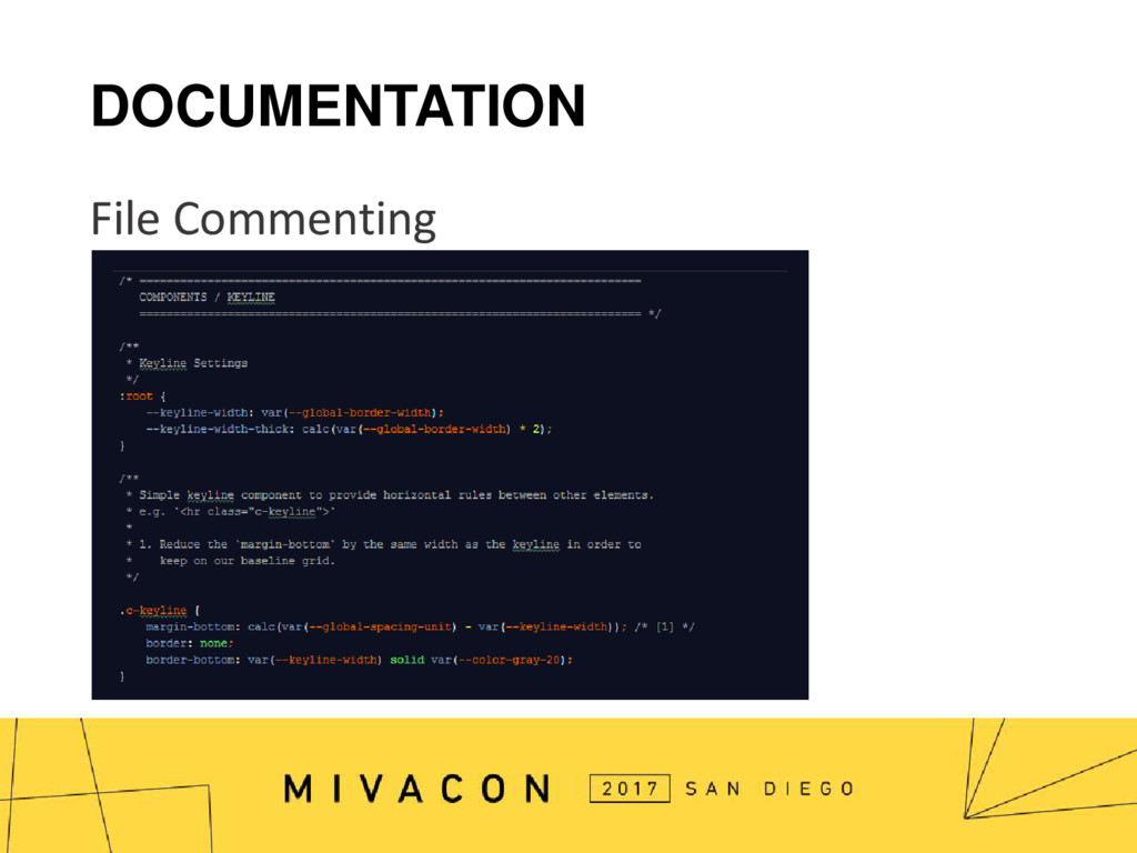 DOCUMENTATION File Commenting