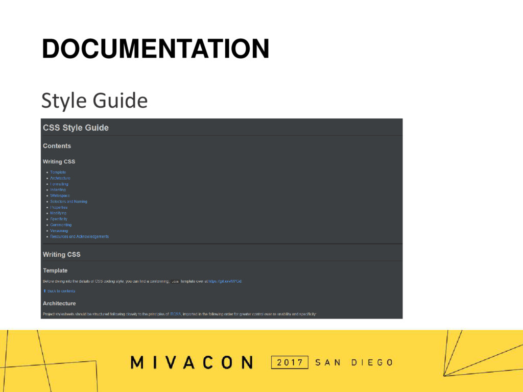 DOCUMENTATION Style Guide