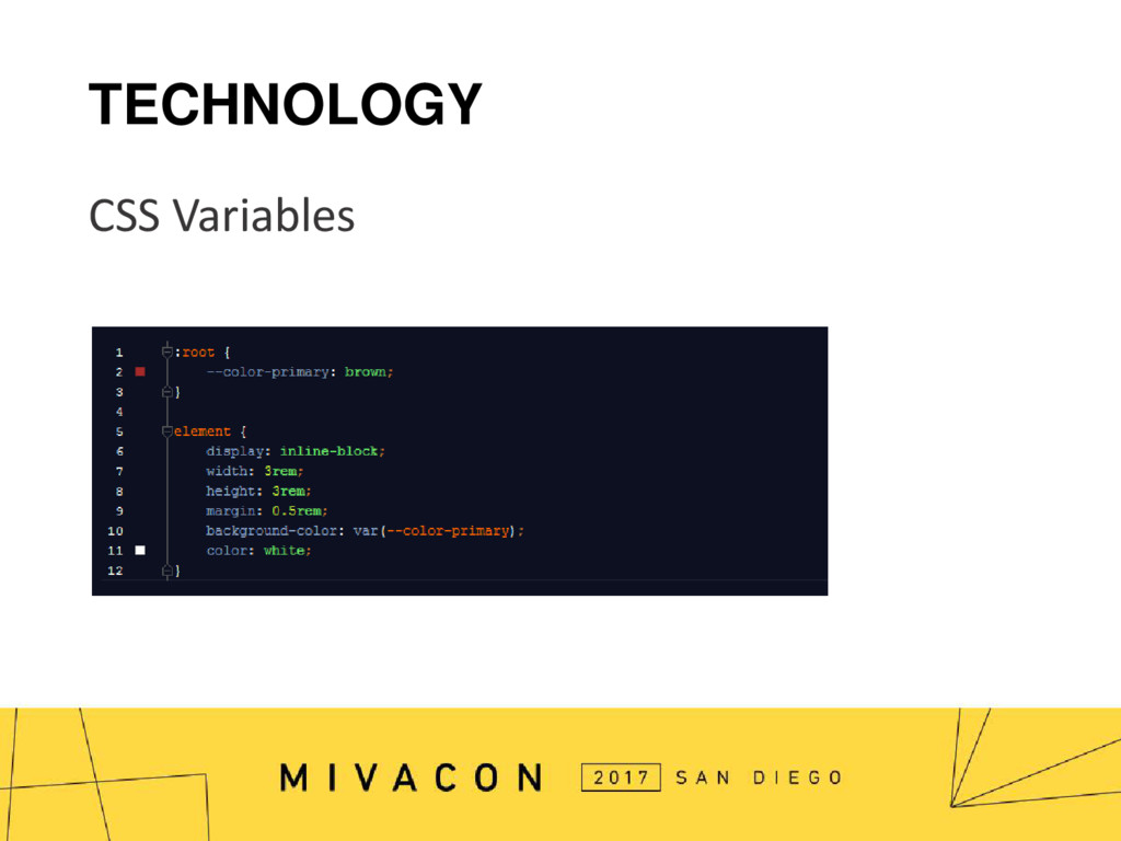 TECHNOLOGY CSS Variables