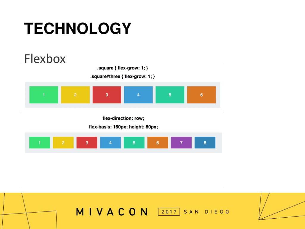 TECHNOLOGY Flexbox